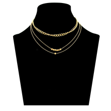 SUKI Chain Choker Necklace Women Three Layers Necklaces Collares Boho Bijoux On Neck Jewelry Accessory