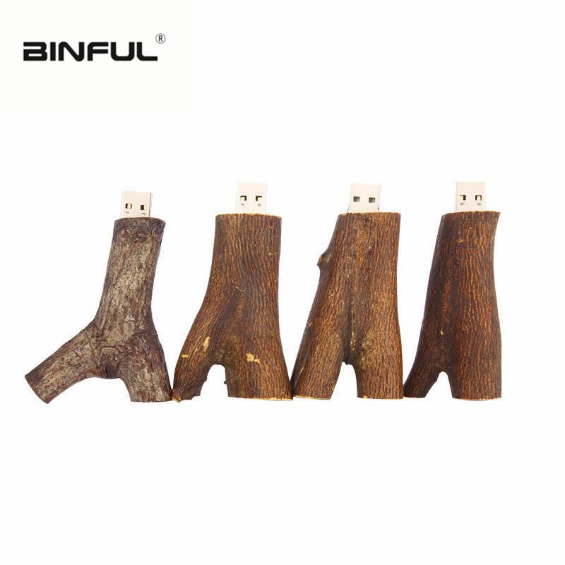 funny usb flash drive root memory usb 2 0 pen drive waterproof 32gb 64gb 8GB 4gb 16GB pendrive 128gb Wood branches creative gift in USB Flash Drives from Computer Office