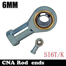 Горячая SI6T/K PHSA6 6 мм правая рука внутренняя резьба метрический стержень конец шарнирного подшипника SI6TK