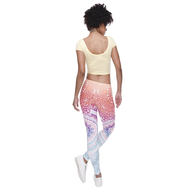 Classic 3D Print Aztec Ombre Leggings Women Causal Jeggings Sexy Leggins Tayt Fitness Legging Calzas Mujer Soft Legins Girls