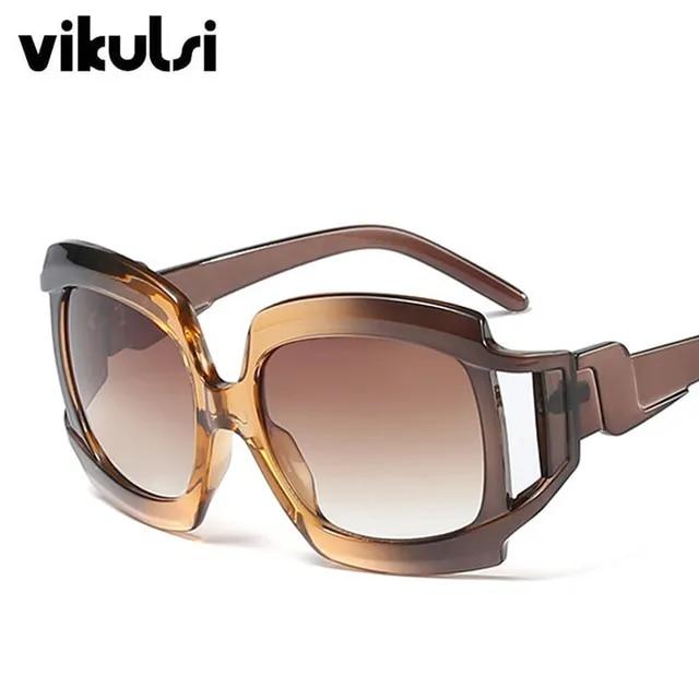 2019 New Fashion Square Sunglasses Luxury Brand Big Shades For Women Thick Frame Oversized Sunglasses Lunette de soleil UV400
