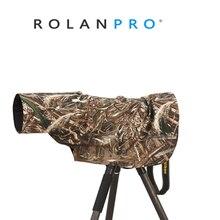 ROLANPRO Rain COVER เสื้อกันฝนสำหรับเลนส์ Telephoto RAIN/เลนส์เสื้อกันฝนกองทัพสีเขียว Camo ปืนเสื้อผ้า L M S XS XXS