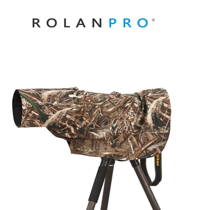 ROLANPRO Rain Cover Raincoat For Telephoto Lens Rain Cover/Lens Raincoat Army Green Camo Guns Clothing L M S XS XXS