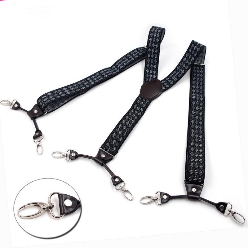 2019 New Suspenders Fashion Hook Braces Elastic Adjustable  Cowboy's Suspensorio Bretelles Tirantes Casual Trousers Ligas