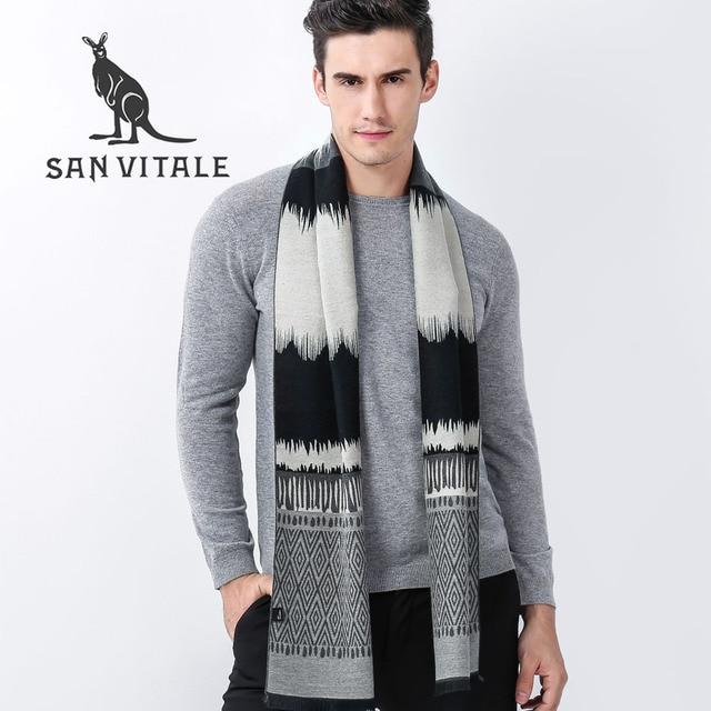 E Uomo Cotone Sciarpe Caldo Sciarpa Inverno Lana Di Poncho Mantelle