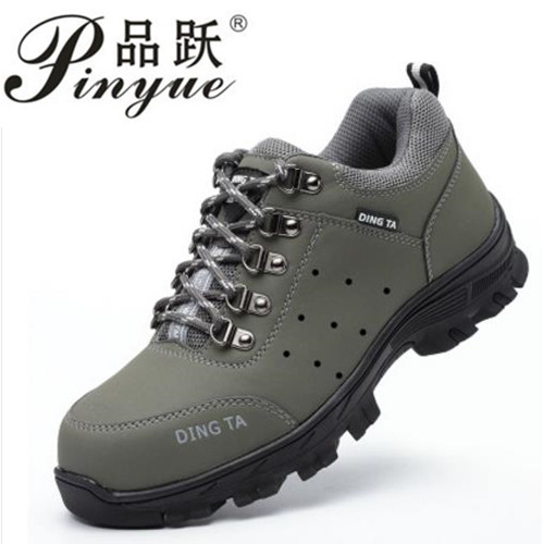 large size men fashion high quality steel toe caps work safety tooling shoes breathable genuine leather security boots zapatos цена 2017