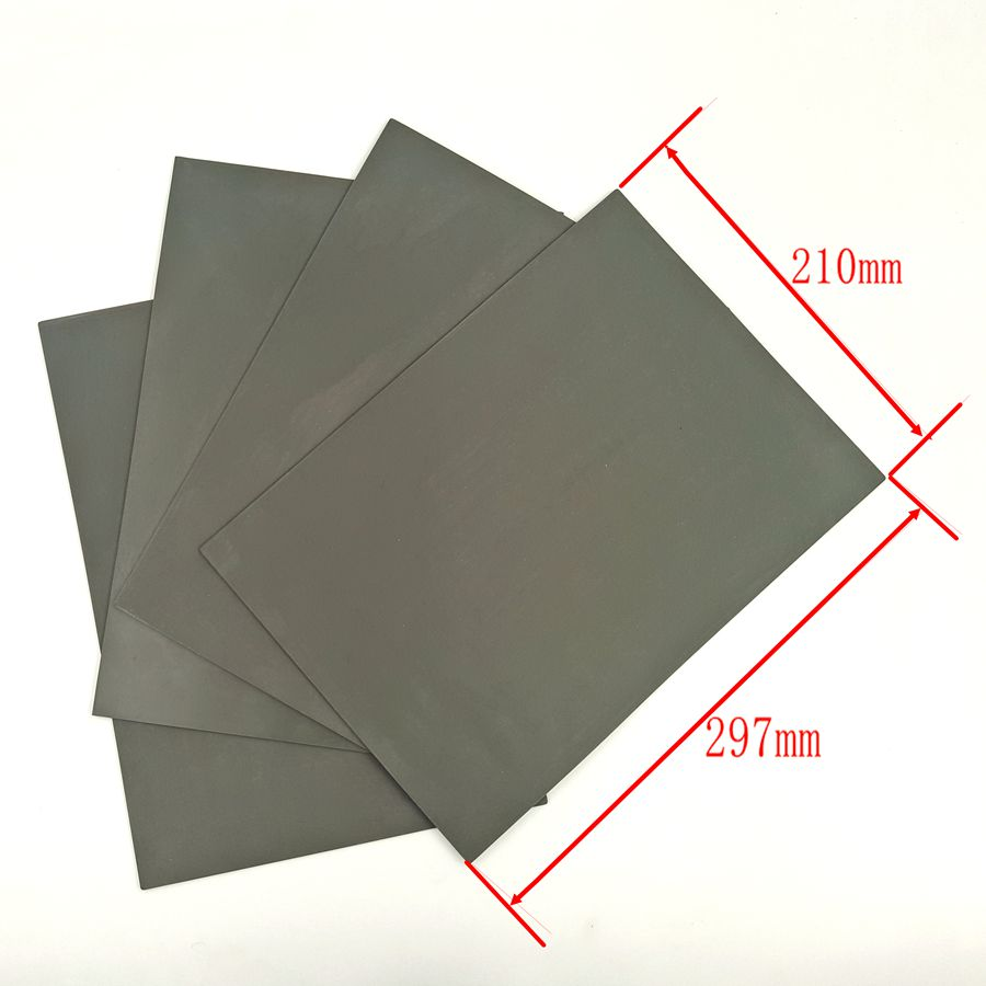 2Pcs/lot Rubber Sheet 297*210*2.3mm A4 Size With Environmental Protection For CO2 Laser Engraving Stamp