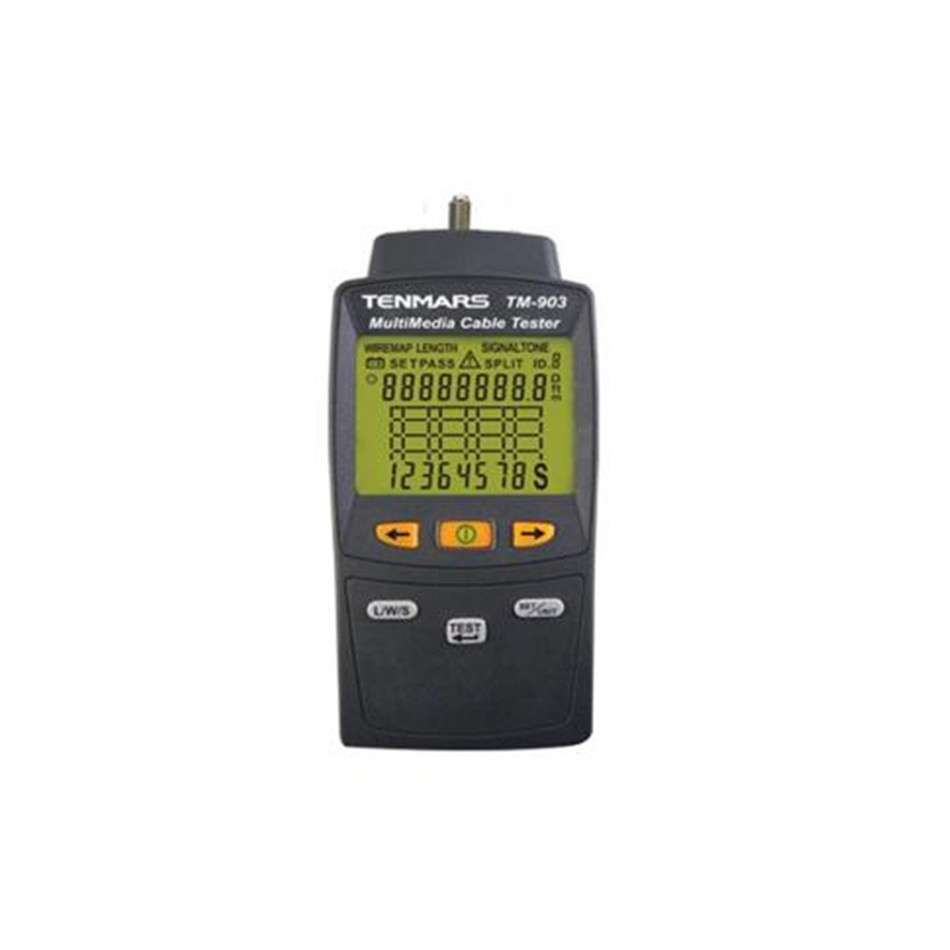 Handheld Tenmars Multimedia LAN cable Tester verify and troubleshoot the LAN cable of twisted pair ...