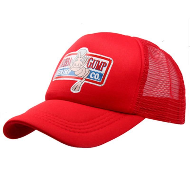 men women GUMP SHRIMP mesh   Baseball     cap   adjustable cotton Sport hats Summer   Cap   casual Hat Forrest Gump   caps   Costume wholesale