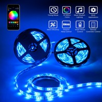 XGBTEL WiFi LED Strip 10M 5050 DC 12V 300 LED RGB strip light LED waterproof flexible LED Diode Tape WiFi controller 5A Adapter