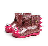 Mini Dinosaur Waterproof Child Shark Jelly Soft Shoes Baby Rain Boots Child Animals Pattern Boy Child