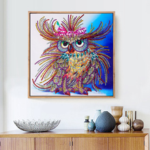 Huacan Special Shaped Diamond Painting Owl Handicraft Needlework 3d Drill Mosaic DIY Diamond Embroidery Animal