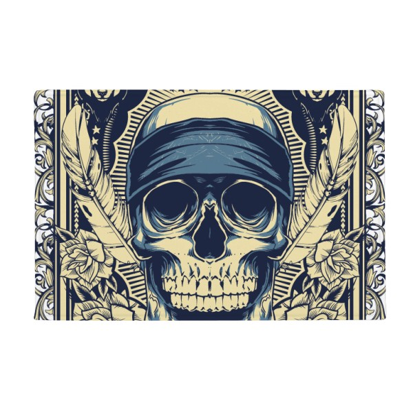 Life Taken Indian Skeleton Totem Anti-slip Floor Mat Carpet Bathroom Living Room Kitchen Door 16x30Gift