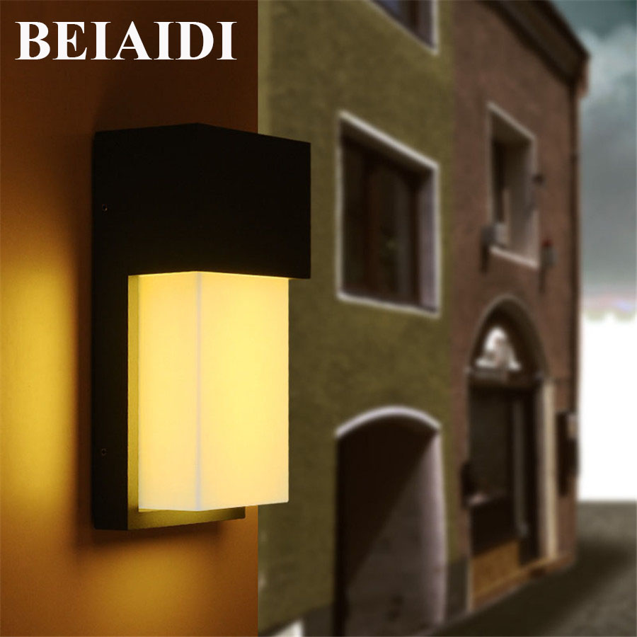 BEIAIDI IP54 10W Waterproof Led Wall Lamp Outdoor Led Porch Lights Modern Villa Patio Fence Garden Balcony Gateway Wall Lights beiaidi ip54 10w waterproof led wall lamp outdoor led porch lights modern villa patio fence garden balcony gateway wall lights