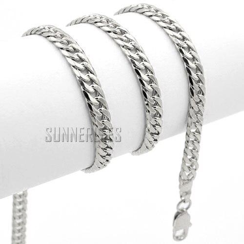 1ce2ab7a5478 Envío gratis 4 mm nueva joyería de moda para mujer para hombre 18 K oro  blanco