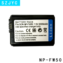 for 2000mAh NP-FW50 NP FW50 Camera Battery Sony Alpha a6500 a6300 a6000 a5000 a3000 NEX-3 a7R