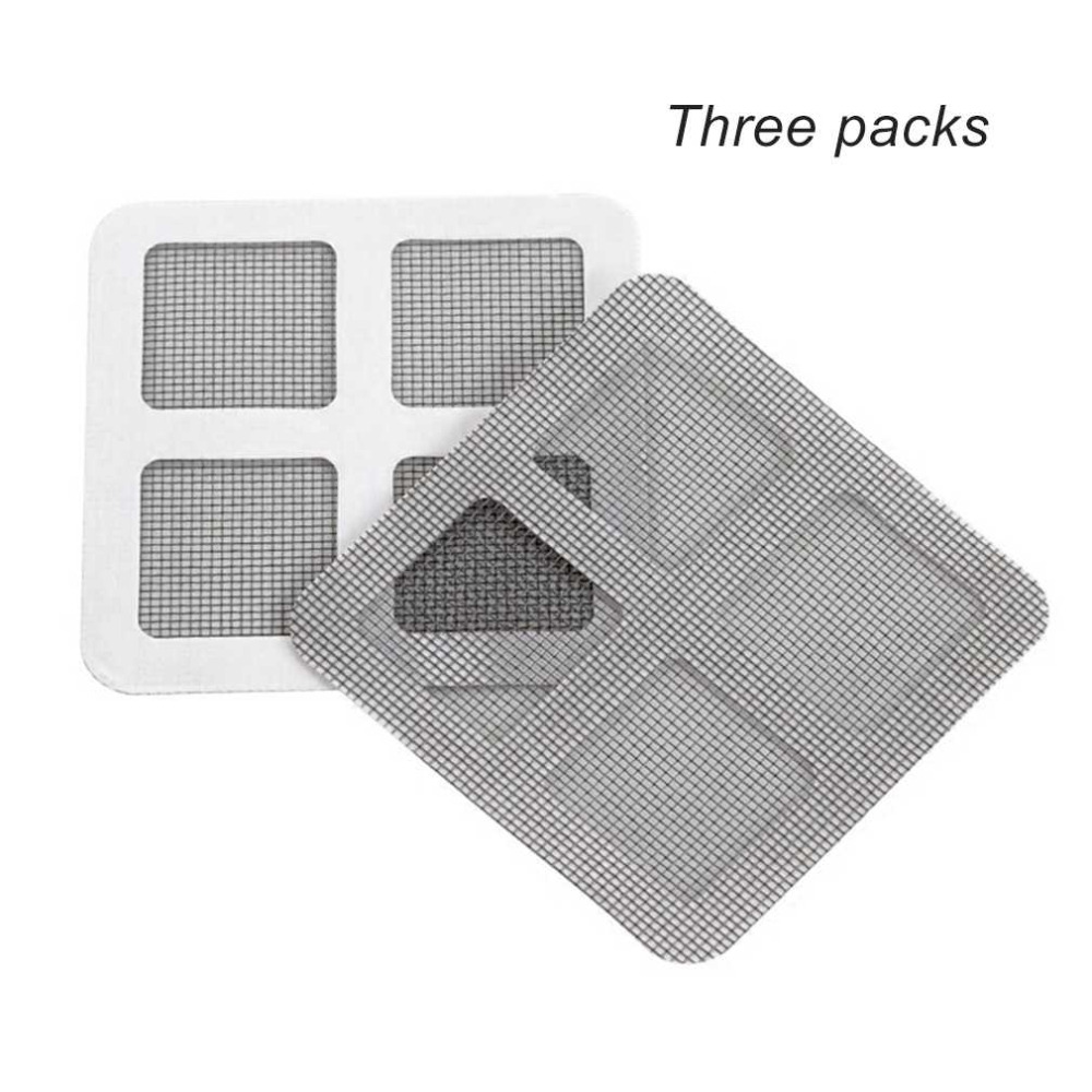 3pcs Anti-mosquito Mesh Sticky Wires Patches Summer Window Mosquito Netting Patch Repairing Broken Holes On Screen Window Door Handsome Appearance