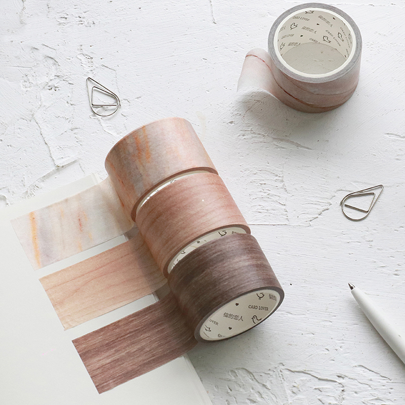цена Marble Pattern Japanese Washi Tape Decorative Tape DIY Scrapbook Paper Photo Album Masking Tape Set