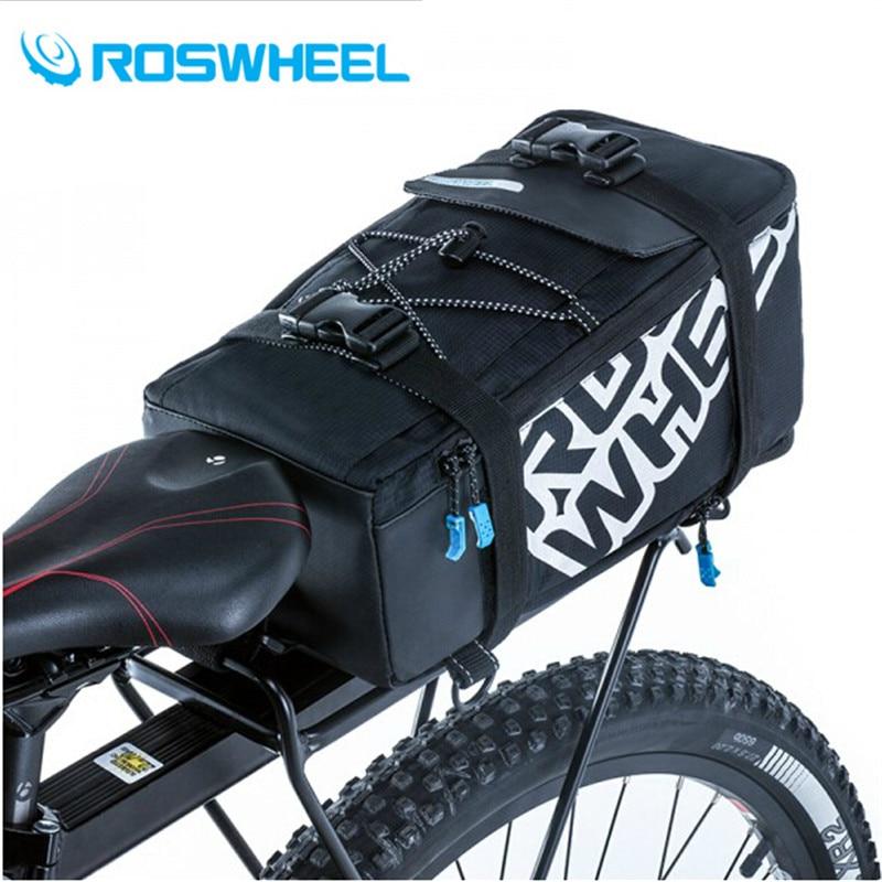 ROSWHEEL Waterproof 5L Cycling Bicycle Bag Bike Rear Seat Trunk Bag Handbag Rear Bike Panniers Mountain Bike Outdoor Accessories