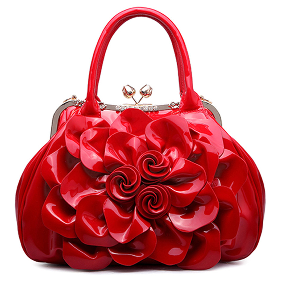 Women Bag Pu Leather Tote Brand Name Bag Ladies Rose Flower Handbag Lady Evening Bags Female Messenger Bags Travel Fashion Sac nevenka women bags lady shoulder bag brand female flap mini bag evening bags pu leather tote style original design handbag sac