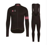 RCC 2018 Spring and autumn Long Sleeve Men Cycling Jersey Set 9D Gel Padded Bib Pants Cycling Outdoor sports clothing Ciclismo