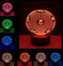 Novelty NFL 3D led light San Francisco Football Helmet Illusion LED Night Light 7 Color Changing 3D Table Lamps for Kids Gift