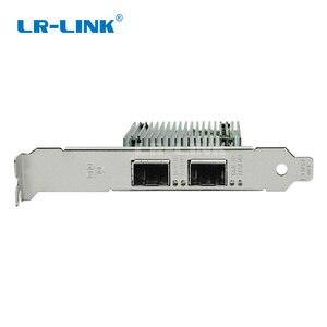 Image 4 - محول شبكة إيثرنت ثنائي المنفذ pci e بطاقة شبكة lan من الألياف البصرية إنتل LR LINK متوافقة مع X710 DA2