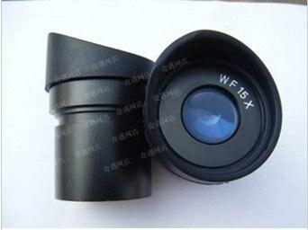 Oculaire grand Angle WF15X/15mm pour lentille optique Microscope stéréo Zoom avec taille de montage 30mm