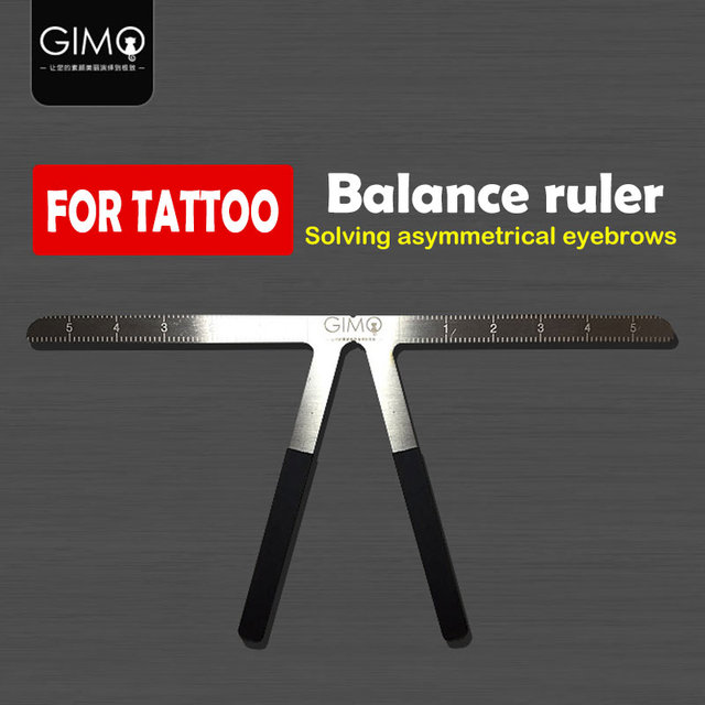 Microblading Eyebrow Tattoo Stencil Ruler Shaper Template Definition Permanent Makeup 1