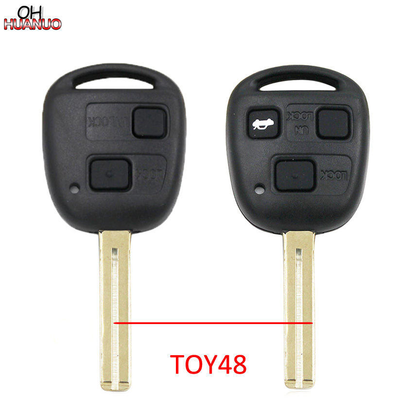 2 Replacement for Lexus Key Fob Remote Shell Case Cover fits ES300 ES330 GS300 GS400 GS430 GX470 IS300 LS400 LS430 LX470 RX300 RX330 RX350 RX400h RX450h SC430