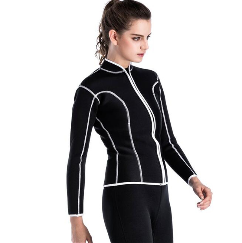 SBART 2MM Neoprene Surf Wetsuit Swimming Spearfishing Wetsuit Women Warm Diving Equipment Shirt Diving Jacket