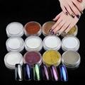 1 Botella Brillo Espejo de Uñas Glitter polvo de Uñas de Arte Consejo Decoración Magia Rayo Mujeres Polvo de Uñas Decoración de DIY + Cepillo #01-12