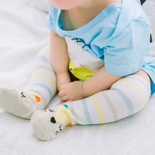 Sunnykucy 0-1Y Baby Socks Children Color Strip Stereo Cartoon Animal Cotton Loose Leg drop shipping L314