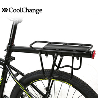 CoolChange Bicycle Luggage Carrier Cargo Rear Rack Shelf Cycling Aluminum Rack Rack Seatpost Bag Holder Stand Bike Accessories