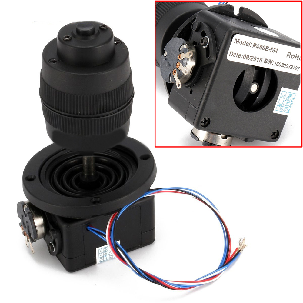 1pc Durable 4-Axis Joystick Potentiometer Button For JH-D400X-R4 10K 4D with Wire Black 1pc 4 axis plastic joystick potentiometer button for jh d400x r4 10k 4d with wire mayitr electric supplies tool