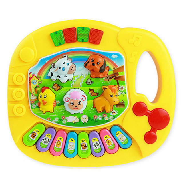 Baby Kids Musical Educational Animal Farm Piano Developmental Music Toy Fashion Developmental Toys for Children Gift
