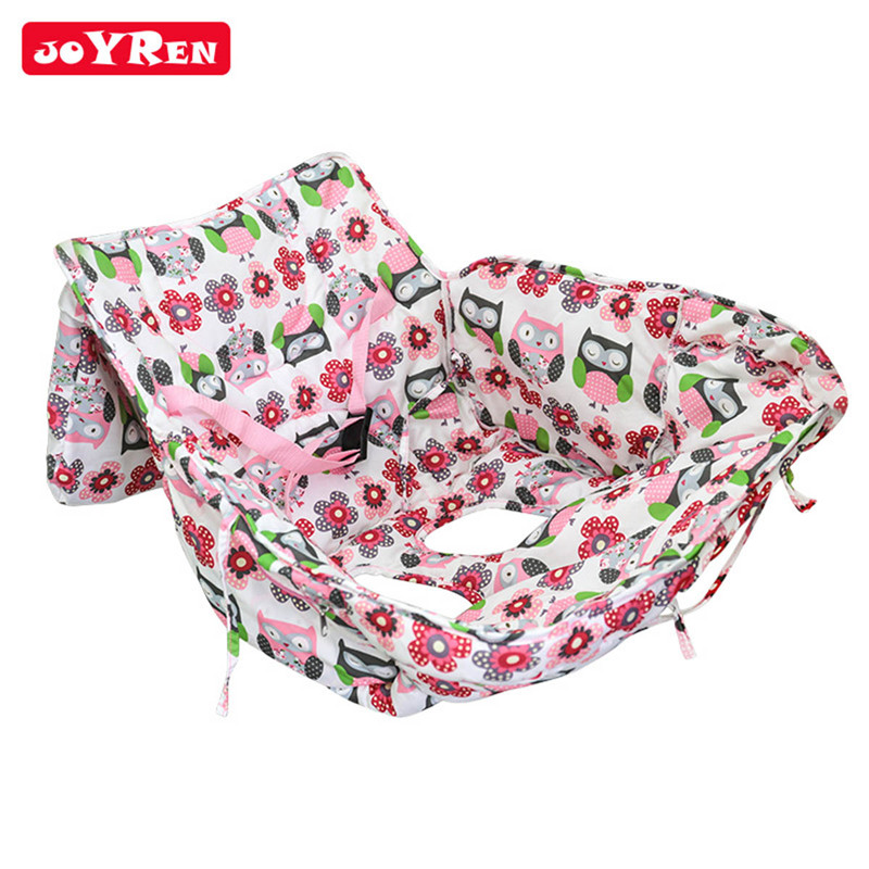 Baby Shopping Cart Cover Safety Kids Trolley Cushion Pad With Safety Belt Soft Comfortable Baby Care Portable Chair Seat Mat цены