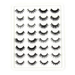 Image 4 - Soqoz 16/7 pares cílios postiços 3d vison cílios feitos à mão macio olho cílios vison real cílios maquiagem grosso cílios falsos