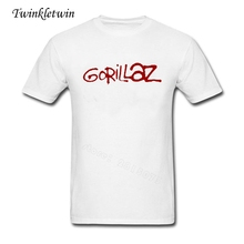 2017 Summer New High End Man's Fashion Brand Tee Shirts Gorillaz T Shirt Printed Teenage Youth Big Size Short Sleeved Rock Tee