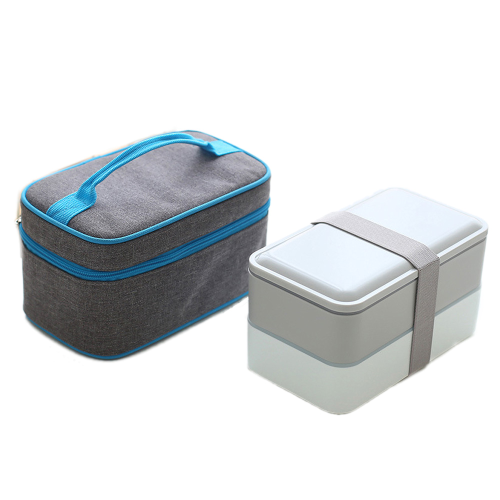 Lunch Bag and Lunch Box Containers with Compartments Set Convenient Lunch Box with Meal Insulation Box Portable Piquenique Tote cute hamburger lunch box with utensils set
