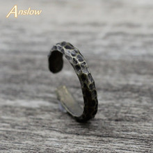 Anslow 50% Off Brand Creative Design Wholesale Cheap Vintage Retro Jewelry Women Mens Adjustable Ring Fathers Day  LOW0010AR