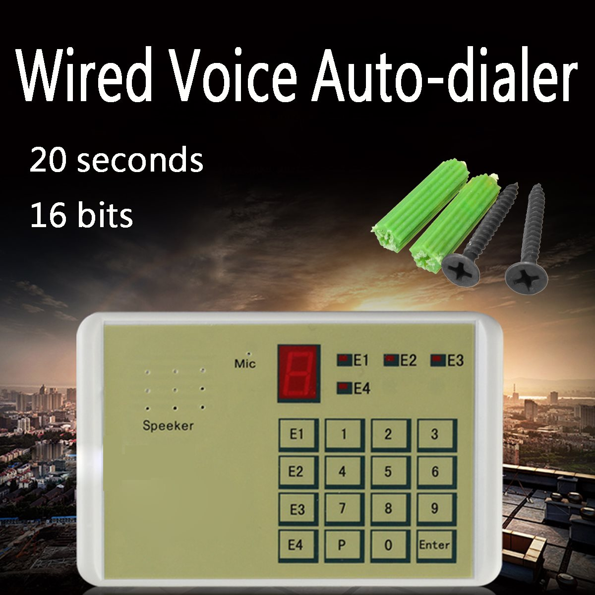 imágenes para Telephone Voice Dialing Automatic Alarm Dialer Alarm Host Dialer Wired Voice Auto-dialer Burglar Security House System