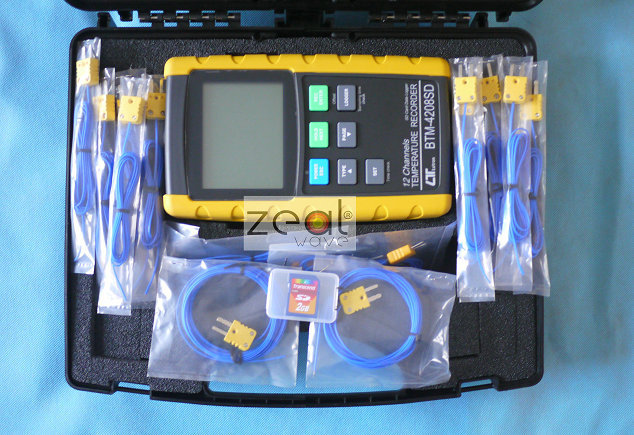 Lutronn BTM 4208SD 12 каналов термометр регистратор Temp. рекордер SD карты, в режиме реального времени регистратор данных с SD карты 10 шт. термопары