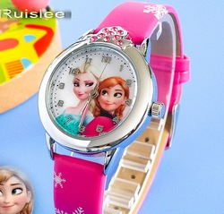 Ruislee relojes cartoon children watch princess elsa anna watches fashion kids cute relogio leatherquartz wristwatch girl.jpg 250x250