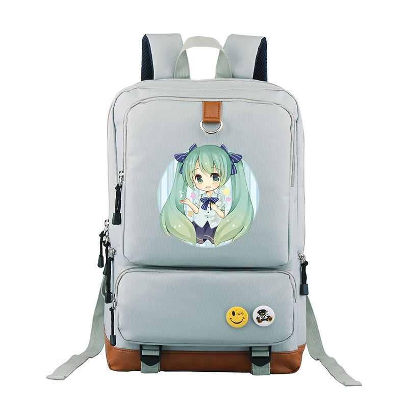 Singer Hatsune Miku Children Girls Teenages Japanese Cartoon Backpacks Shoulder Bag Students Rucksack Kids Travel School Bags