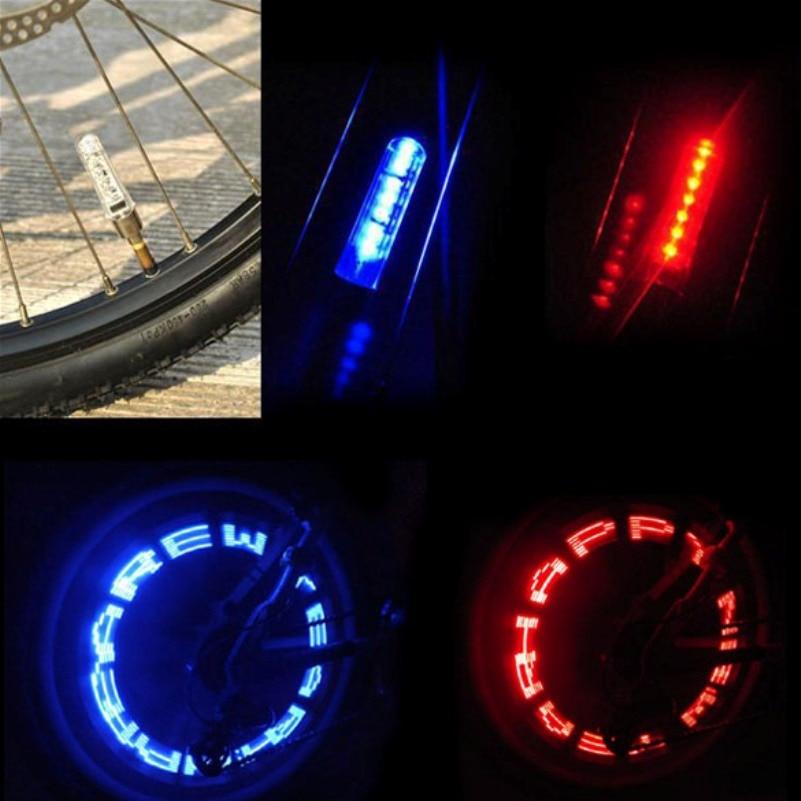 7 LED Waterproof Outdoor MTB Bicycle Light Bike Valve Tyre LED Flash Light Double Sense Letter Change Wheel Spokes Light