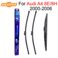 QEEPEI Front And Rear Wiper Blade No Arm For Audi A4 8E 8H B6 2000 2006
