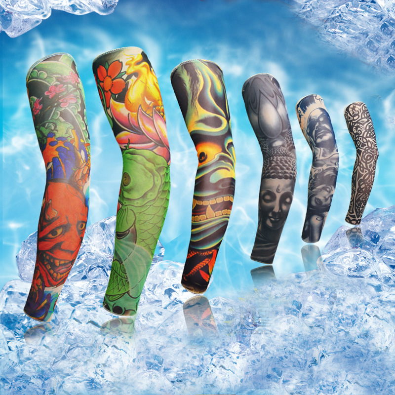 Tattoo cuff arm sleeve seamless men and women summer for Best sunblock for tattoos