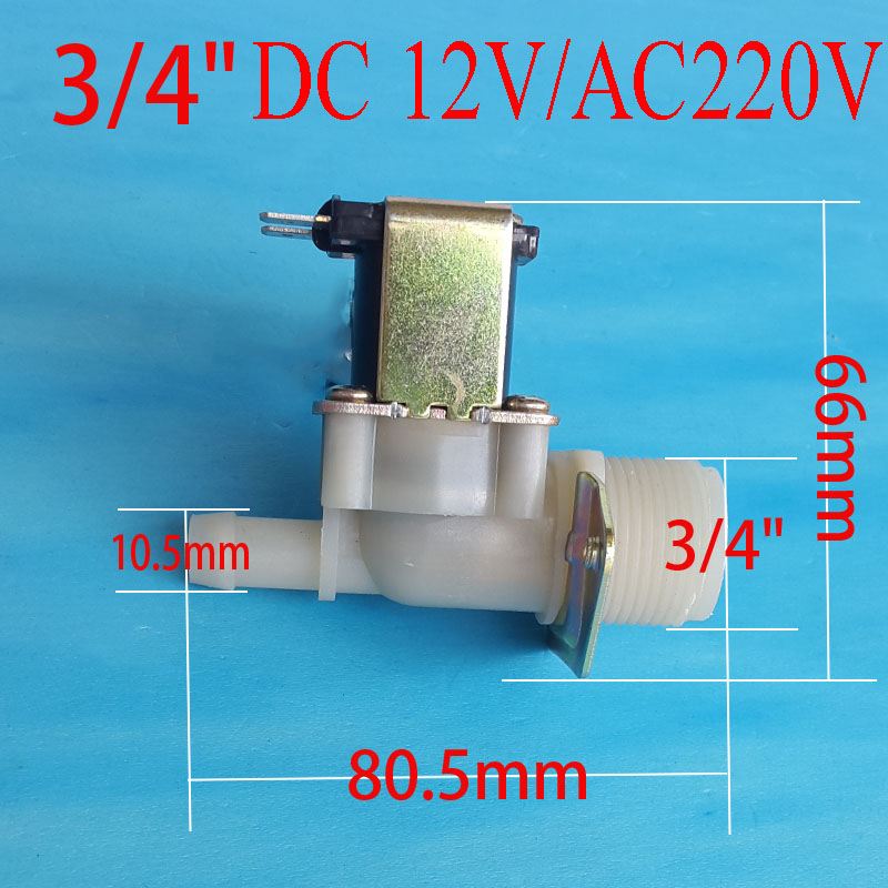 3/4 10.5 mm solenoid coil water meter Inlet 0.02 - 0.8Mpa DC 12 V electric solenoid valve normally closed N / C 3 8 electric solenoid valve water air n c all brass valve body 2w040 10 dc12v ac110v