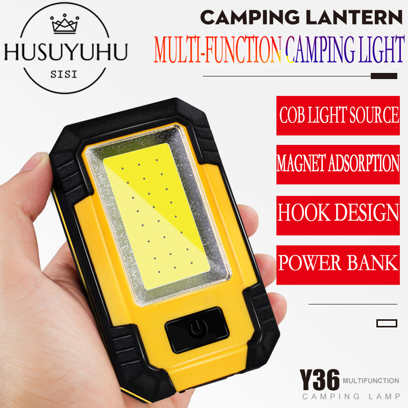 HUSUYUHU SISI Camping Tent Emergency Rechargeable Outdoor Portable RetroCamp Light Lantern Super Bright LED Sun Novelty Lighting